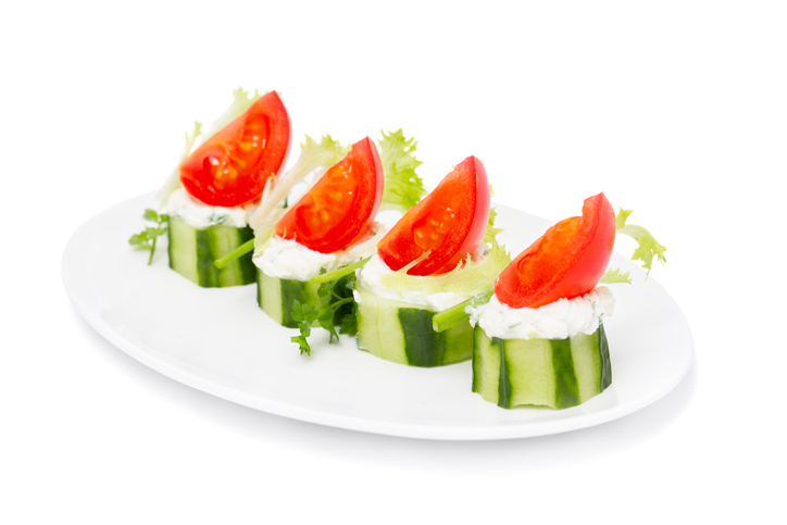 Cucumber and Mini Feta Bites