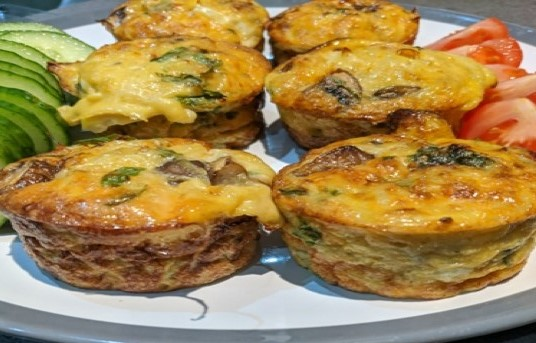 Egg and Mushroom muffins