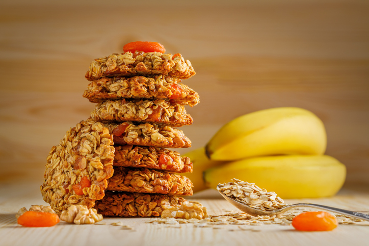 Oat, Banana and Apricot Biscuits